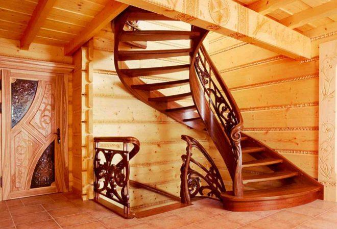 Межэтажные лестницы в частном доме 158
