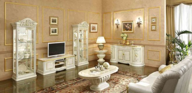 Мебель для гостиной в итальянском стиле