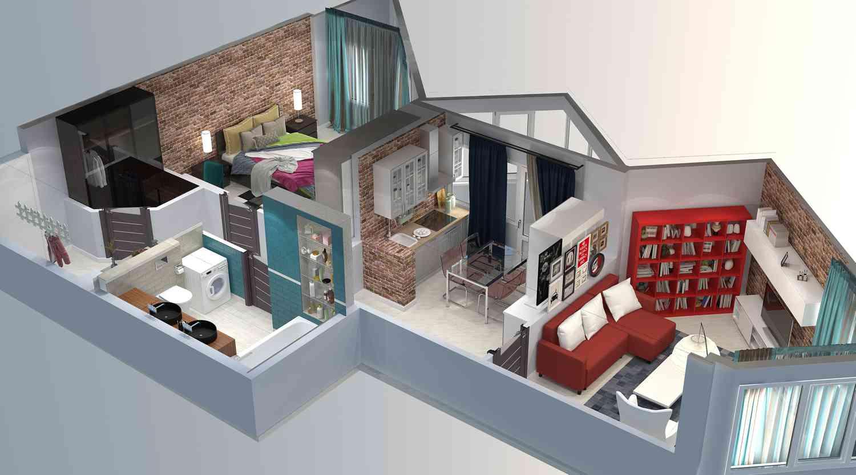 Дизайн проект квартиры в Москве 85