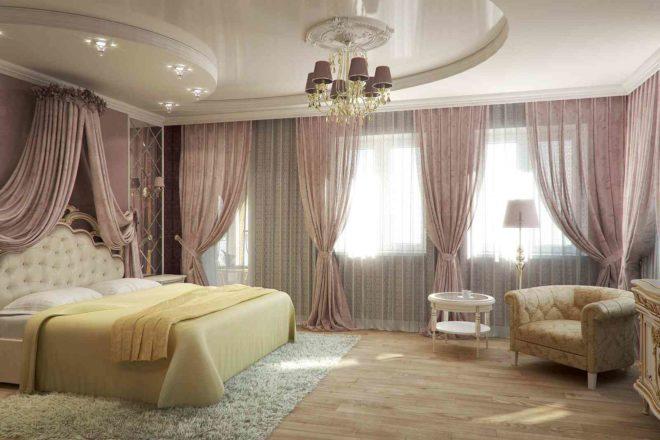 Какой лучше натяжной потолок выбрать для спальни