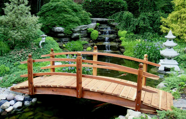 Декоративные мостики своими руками для сада 506