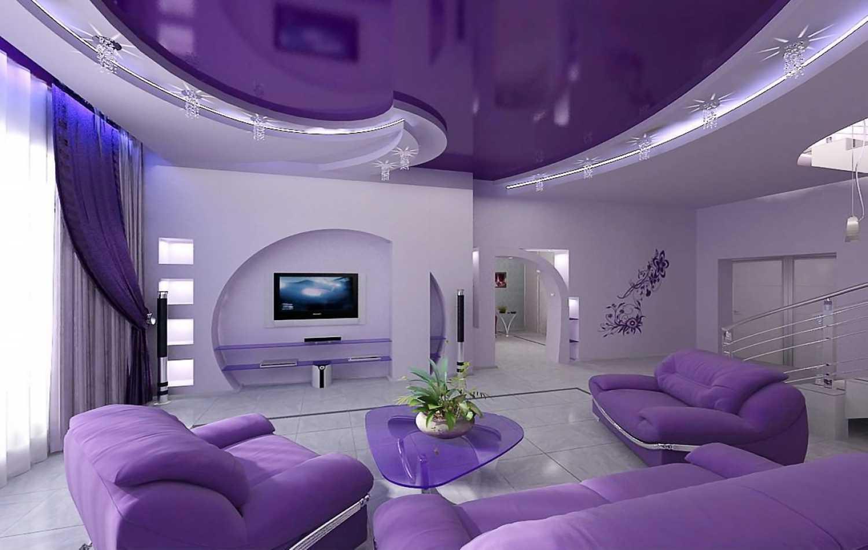 Как выбрать натяжной потолок для гостиной