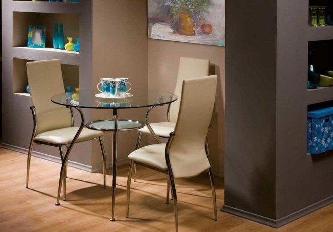 Как выбрать стулья для стеклянного стола
