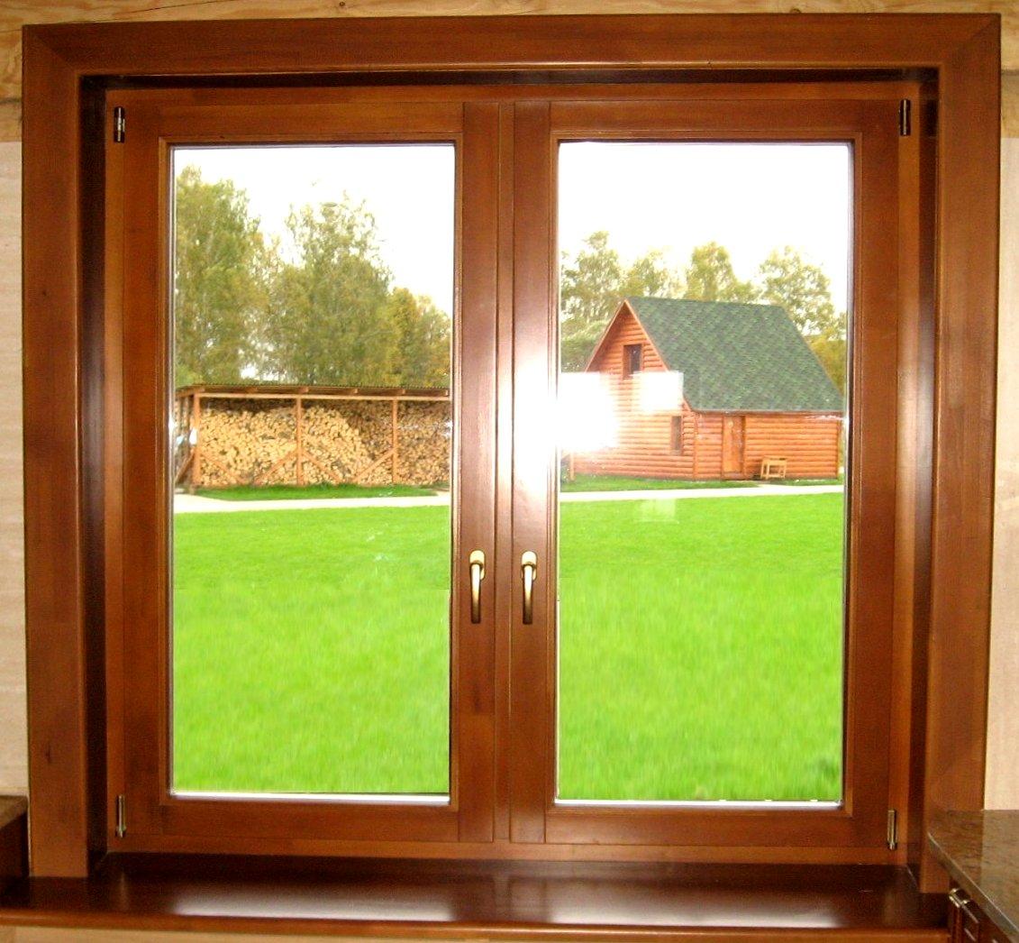Деревянные окна из массива дуба