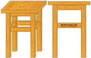 Как сделать стул из дерева своими руками