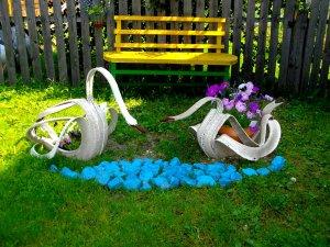 Поделки из шин для сада своими руками