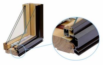 Konstrukcija kombinirovannogo okna