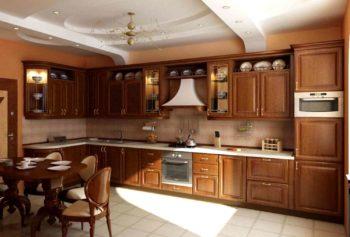 Классический интерьер в оформлении кухни