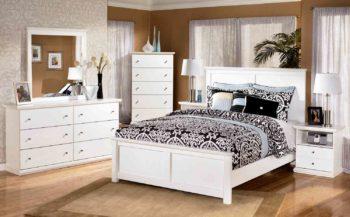 белая мебель является лучшим вариантом для спальни