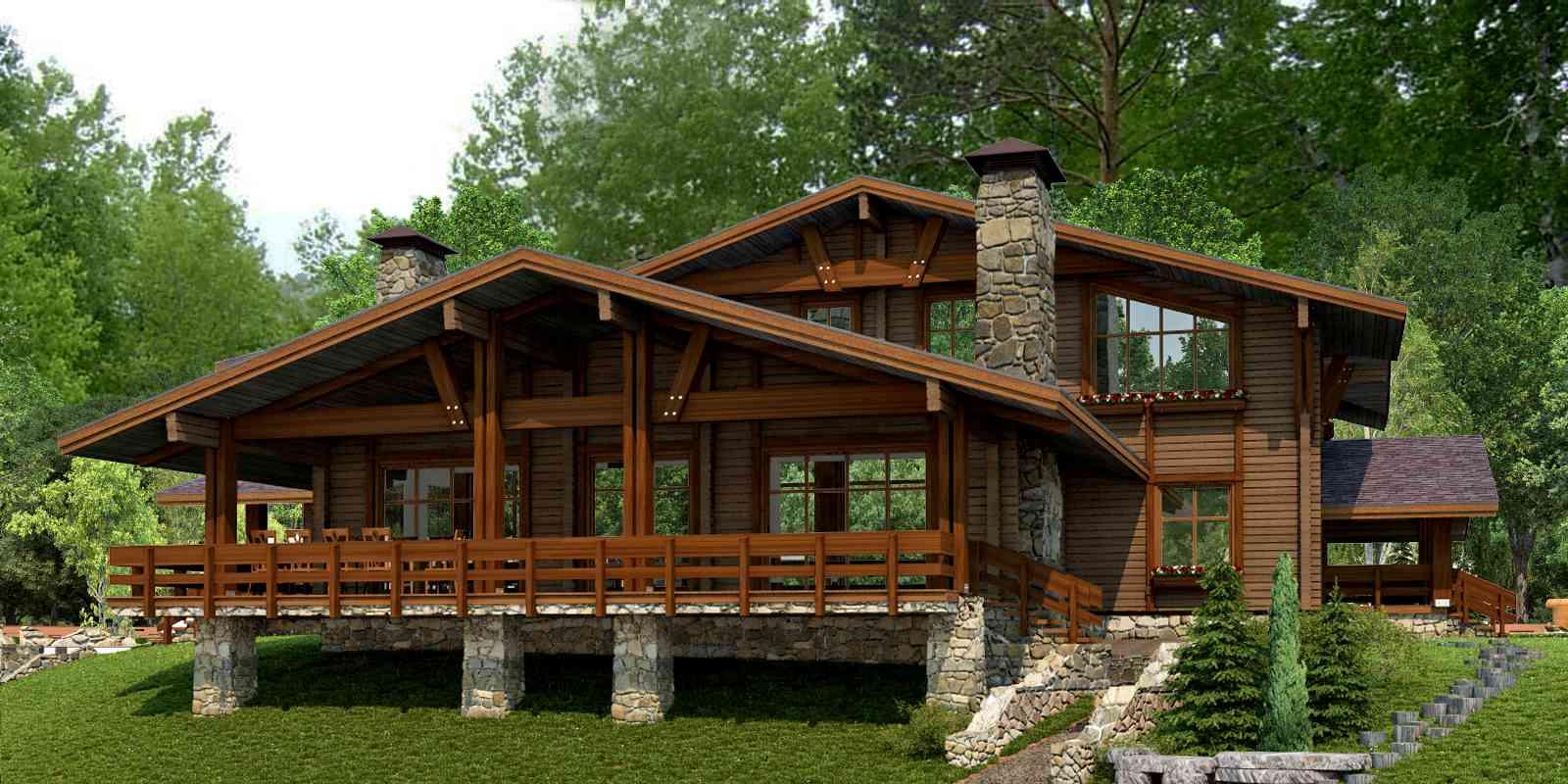 Дома из бревен - надежные, теплые, красивые
