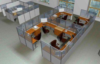 Стационарные и мобильные офисные перегородки