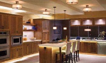 Как расположить светильники на кухне (3)