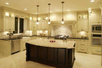 Как расположить светильники на кухне (4)