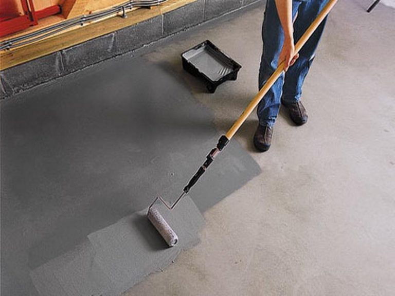 краска для пола гаража по бетону